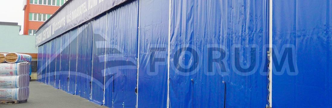 Industrie-Schutzdächer, Blendplanen